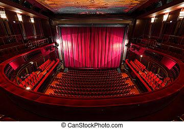 interno, teatro