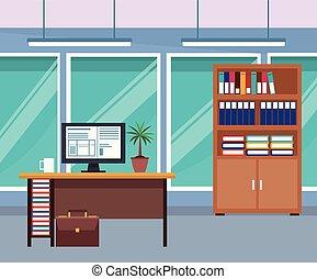 interno, ufficio affari