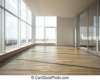 interno, vetro, ufficio, parete