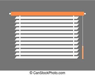 interno, window-blind, pezzo, illustrazione, vettore