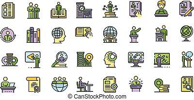 Internship icons set vector flat - Internship icons set. ...