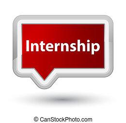 Internship prime red banner button