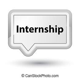 Internship prime white banner button
