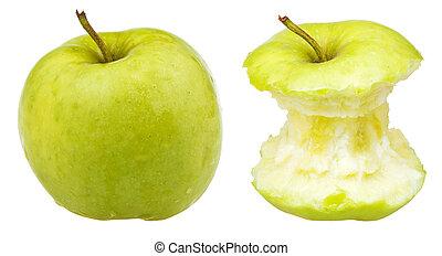 intero, centro, fabbro, mela, nonna