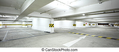 Interor of parking lot