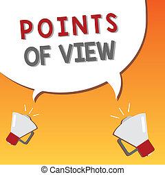 interprétation, business, photo, projection, perspicacité, écriture, note, points, individu, showcasing, opinion, vue., évaluation