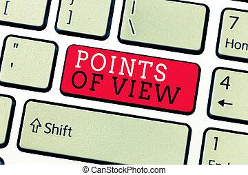 interprétation, business, texte, projection, perspicacité, écriture, individu, photo, conceptuel, opinion, vue., main, évaluation, points