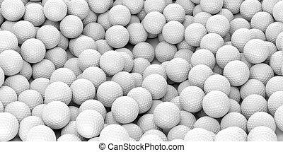 interpretación, pelotas, golf, plano de fondo, 3d