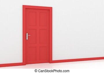 interpretación, puerta, 3d