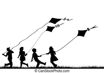 interpretacja, latawce, dzieci