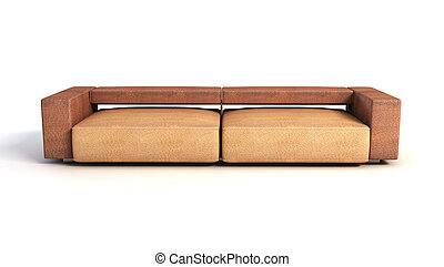interpretazione, divano, 3d