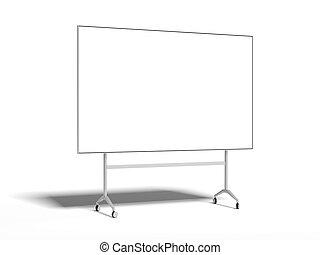 interpretazione, metallo, whiteboard., 3d