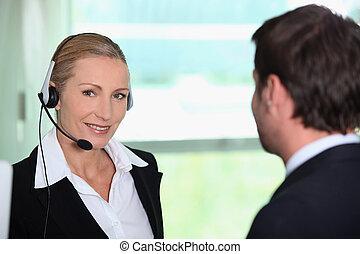 interpreter, mit, klient