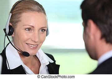 Interpreter with client