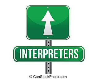 interpreters, disegno, strada, illustrazione, segno