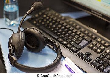 Interpreting - interpreting - Microphone and switchboard in ...