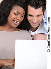 interracial カップル, コンピュータ