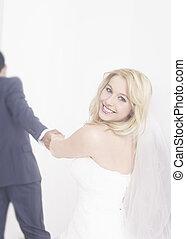 interracial カップル, 結婚されている, ただ