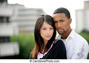 interracial カップル, 若い