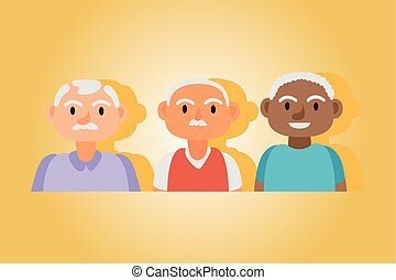 interracial, 先輩, 活動的, 古い, 男性