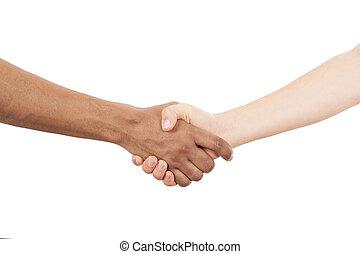 interracial, 握手