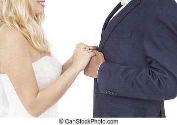 interracial, 結婚式の カップル