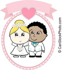 interracial couple wedding
