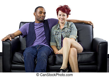 Interracial Crush - young crush between black male and white...