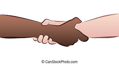 Interracial Handshake Grip