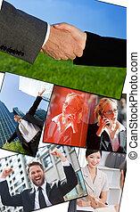 interracial, hommes affaires, &, femmes, fonctionnement