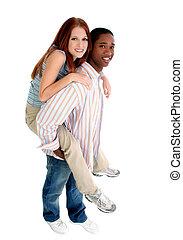 interracial paar, aantrekkelijk
