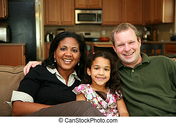 interracial rodzina
