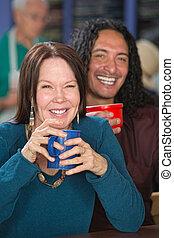 interracial, sourire, couple