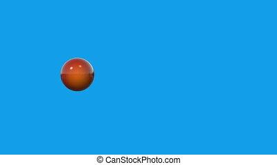 Interresting movement in blue background