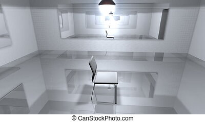 Interrogation room.