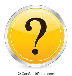 interrogative mark yellow circle icon