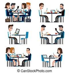 interrupción, almuerzo, empresa / negocio