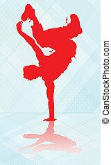 interrupción, dance.