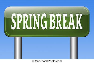 interrupción, primavera