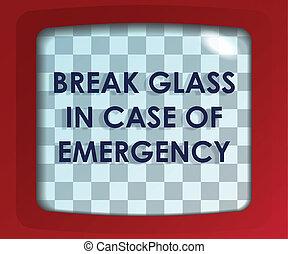 interrupción, vidrio