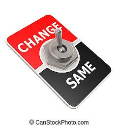 interruptor alavanca, mudança