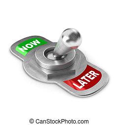 interruptor, conceito, later