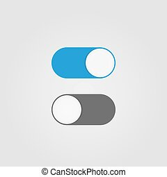 interruptor, desligado, toggle