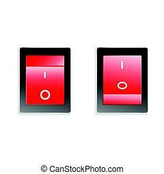 interruptor, desligado
