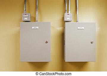 interruptor, eléctrico, engranaje, circuito