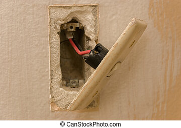 interruptor ligero, -, renovación
