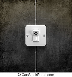 Interruptor switch ON - Switch ON for lighting system ...