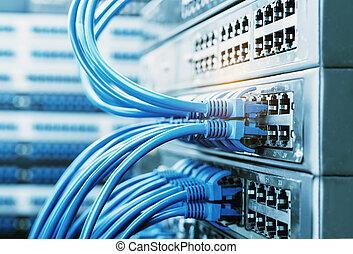 interruptores,  cables, conectado, red