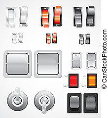 interruptores, vector, conjunto