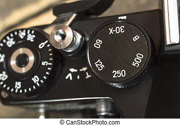 interruttore, il, velocità imposta, di, il, vecchio,...